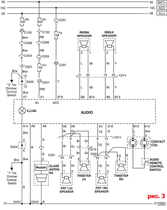 схема подключения магнитолы chevrolet aveo
